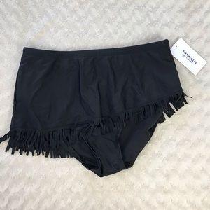Swimsuits for All Swim Bottoms Fringe Black 16